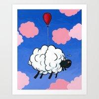 Cloud Print Set 1 of 2 Art Print