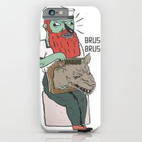 iPhone & iPod Case featuring brushie brushie by liquidpig