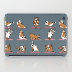 English Bulldog Yoga iPad Case