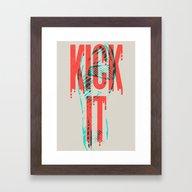 Kick It Framed Art Print