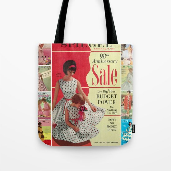 1963 - 98th Anniversary Sale -  Summer Catalog Cover Tote Bag