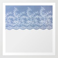 Lace #Blue Art Print
