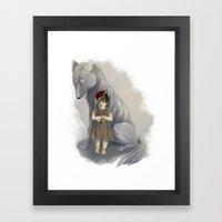 Neither Human Nor Wolf Framed Art Print