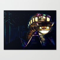 Cat Bus Is In Your Town!… Canvas Print