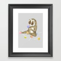 Slow Loris Framed Art Print
