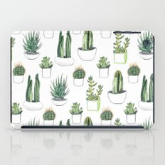 watercolour cacti and succulent iPad Case