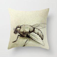 Flies Throw Pillow