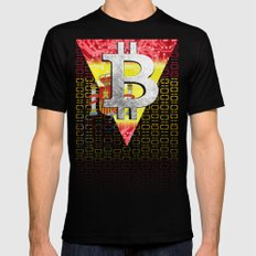 bitcoin spain SMALL Mens Fitted Tee Black