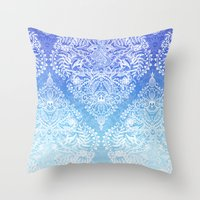 Out Of The Blue - White … Throw Pillow