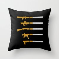 Lung Bullets Throw Pillow