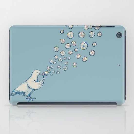 Bubbles Peace iPad Case