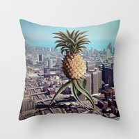 PINEAPPLEGEDDON Throw Pillow