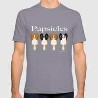 Papsicles Mens Fitted Tee Slate SMALL