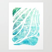 The See-Thru Sea Art Print