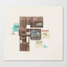 Resort Type - Letter F Canvas Print