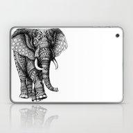 Laptop & iPad Skin featuring Ornate Elephant V.2 by BIOWORKZ