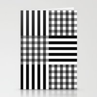 monochrome pattern  Stationery Cards