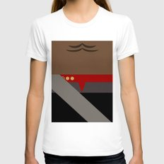 Worf - Minimalist Star T… Womens Fitted Tee White SMALL