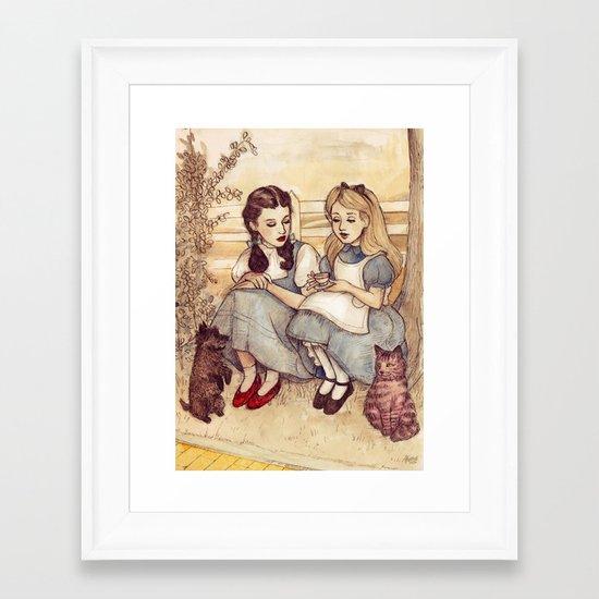 Dorothy and Alice Framed Art Print