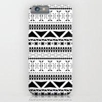 Black & White Pattern iPhone 6 Slim Case