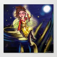 Bug Girls: Firefly Looki… Canvas Print