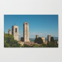 san gimignano, italy Canvas Print