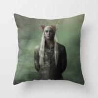 The Great King Thranduil Throw Pillow