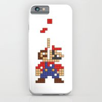 iPhone & iPod Case featuring Super Mario Tetris by Tombst0ne