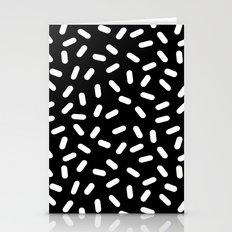 Bingo - black and white sprinkle retro modern pattern print monochromatic trendy hipster 80s style Stationery Cards