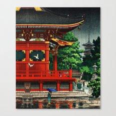 In the rain-Asakusa Sensouji temple Canvas Print