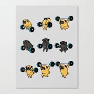 OLYMPIC LIFTING PUGS Canvas Print
