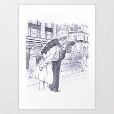 Zombie Embrace Art Print