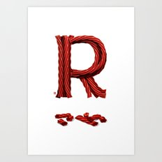 R is for Red Licorice Art Print