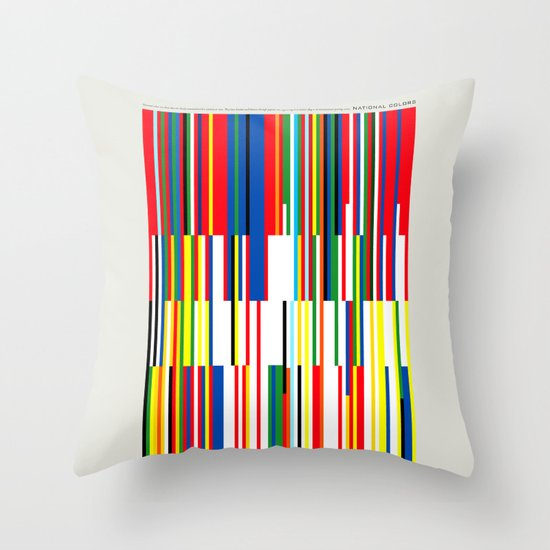 National Colors Throw Pillow