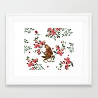 Monkey World: Nosy - Whi… Framed Art Print