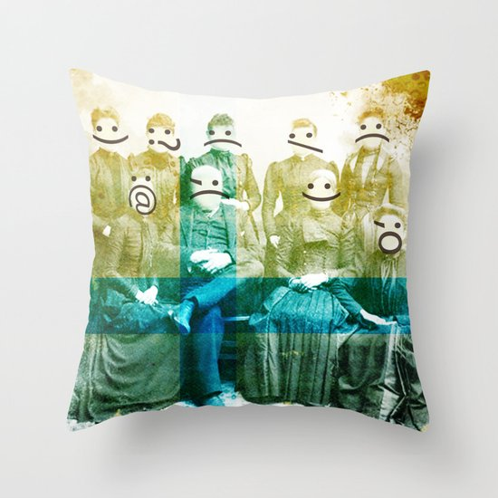 the semicolon sisters Throw Pillow