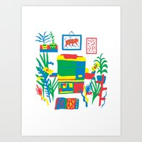 Risograph studio Art Print