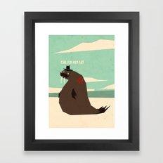 W is for walrus Framed Art Print