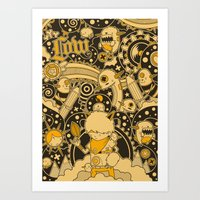 Leef Art Print