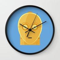 Star Wars Minimalism - C3PO Wall Clock