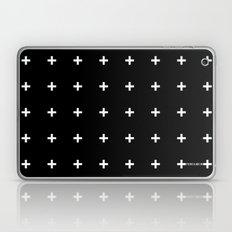 White Plus on Black /// www.pencilmeinstationery.com Laptop & iPad Skin