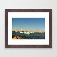 Sailing day Framed Art Print
