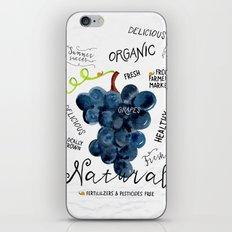 Watercolor grapes iPhone & iPod Skin