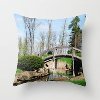 Across The Stream Throw Pillow