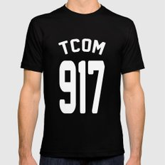 TCOM 917 AREA CODE JERSEY SMALL Black Mens Fitted Tee