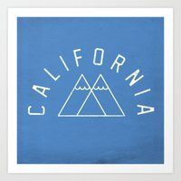 california Art Prints featuring California by Roland Lefox