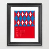 Bayern München Geometri… Framed Art Print