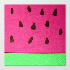 Watermelon Papercut Canvas Print