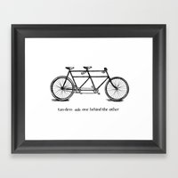 In Tandem Framed Art Print