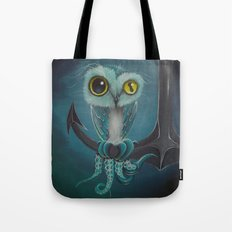 BLue Octowl Tote Bag